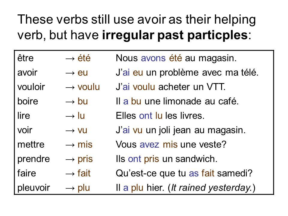 The phrase il y a becomes il y a eu in the passé composé.