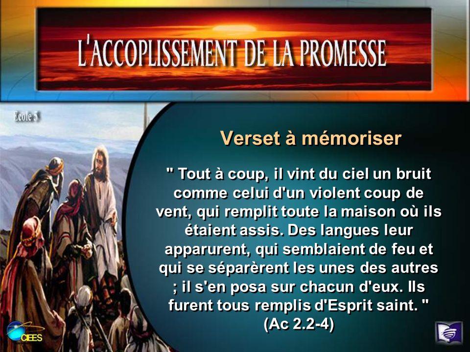 2.Nous avons vu que les disciples ont du attendre pour que se réalise la promesse du Saint-Esprit.
