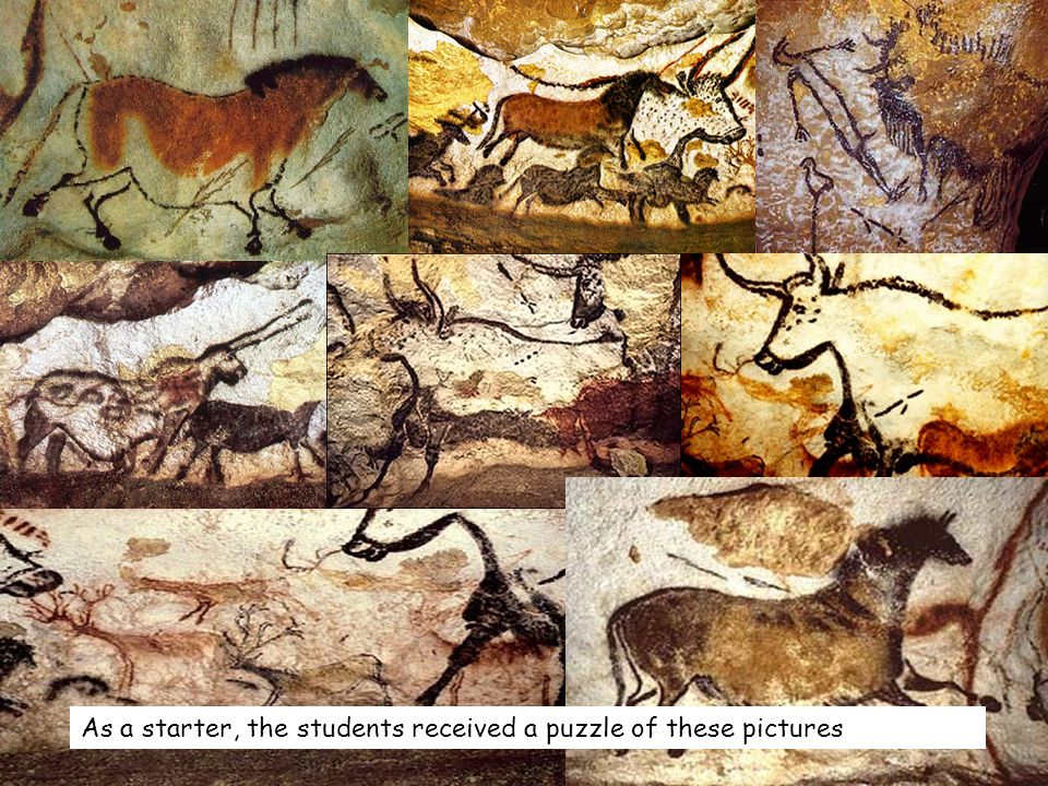 As a starter, the students received a puzzle of these pictures