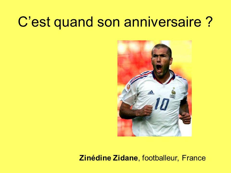 Zinédine Zidane, footballeur, France