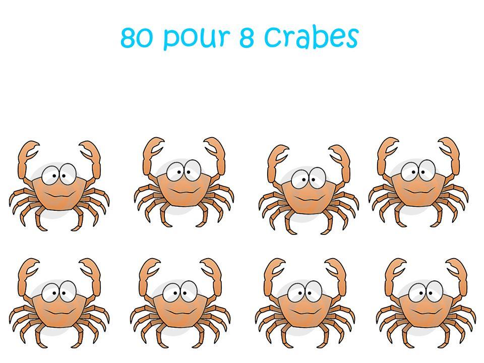 80 pour 8 crabes
