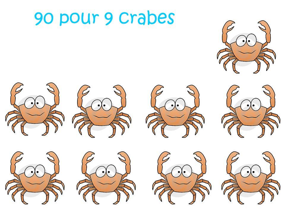 90 pour 9 crabes
