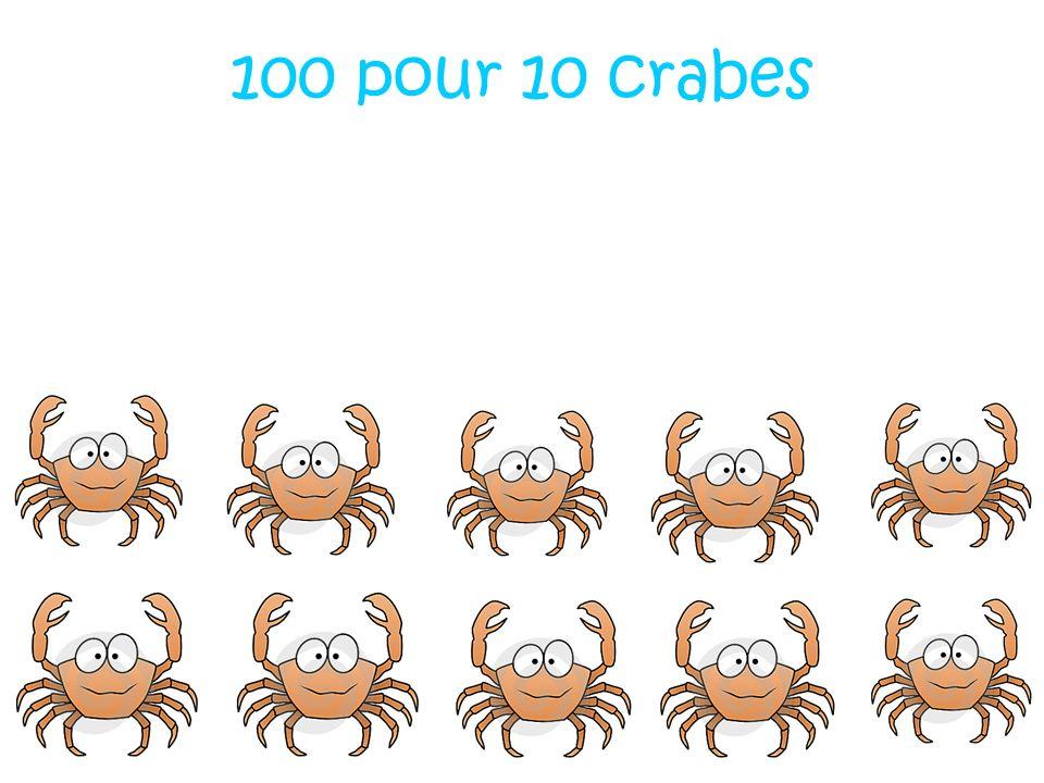 100 pour 10 crabes