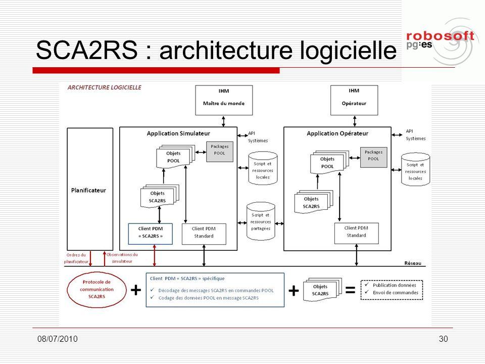 SCA2RS : architecture logicielle 08/07/201030