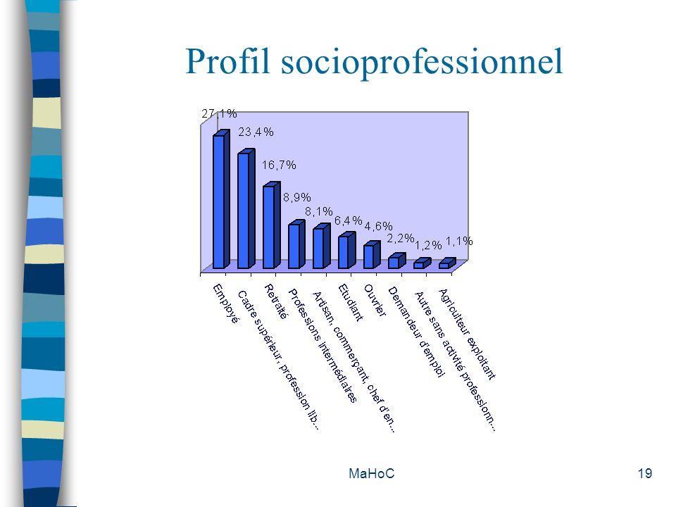 MaHoC19 Profil socioprofessionnel