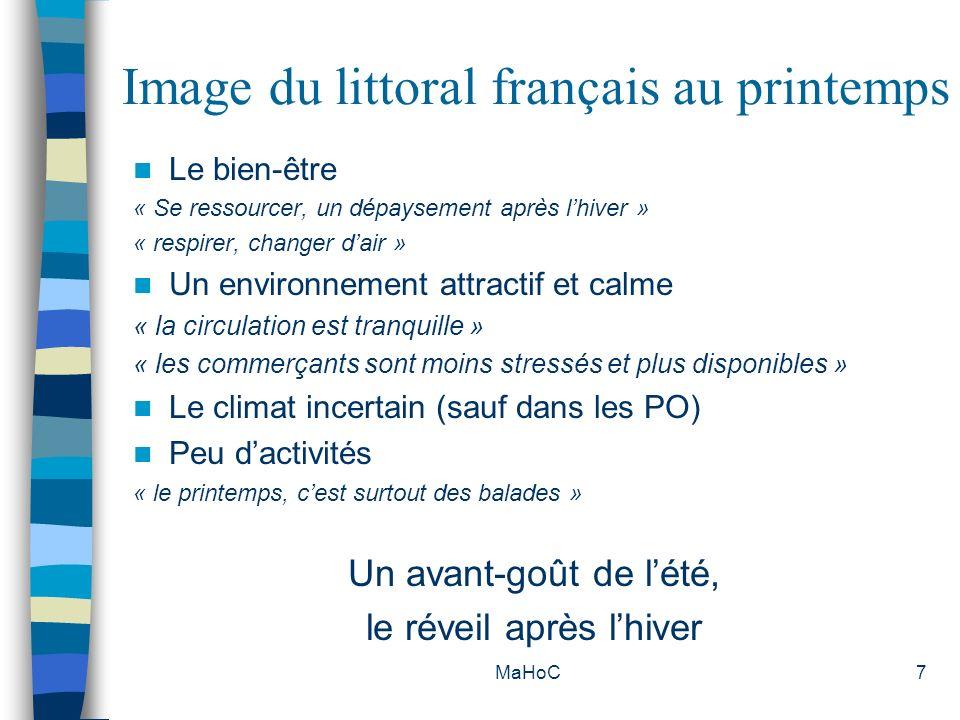MaHoC18 Lieu de résidence Manche Ile de France (42%) / Basse Normandie (24,5%) / Bretagne (12%) Charente Maritime Poitou-Charentes (17%) / Pays de la Loire (16%) Ile de France (15%) / Aquitaine (14%).