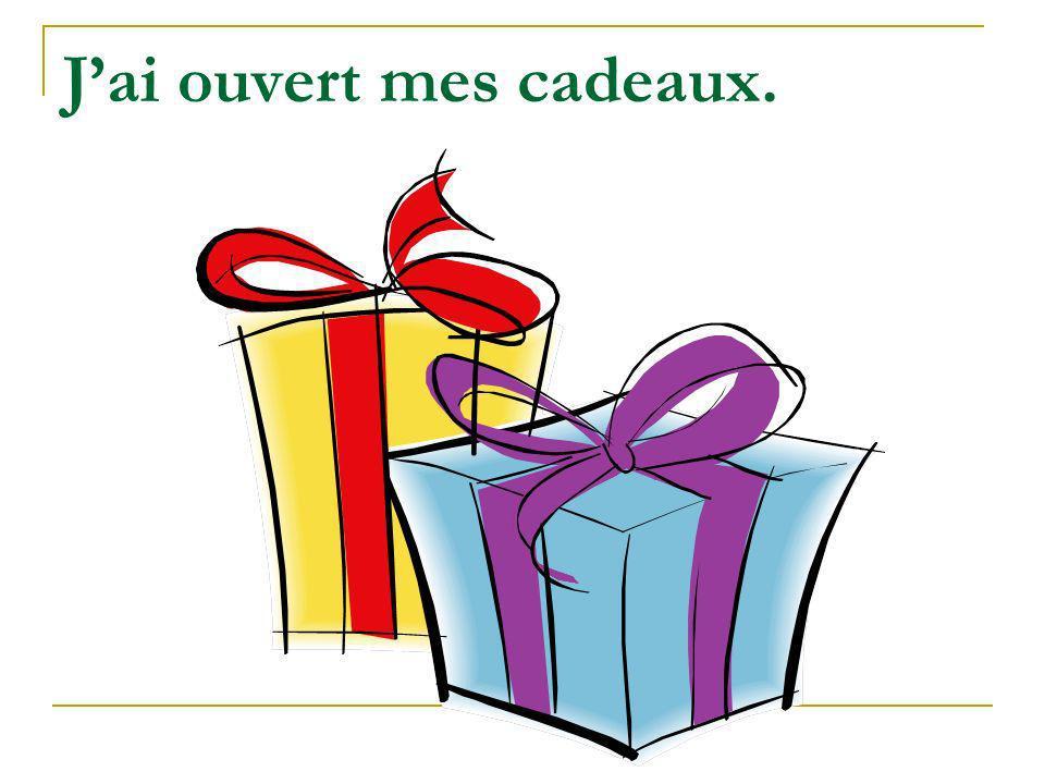Jai ouvert mes cadeaux.