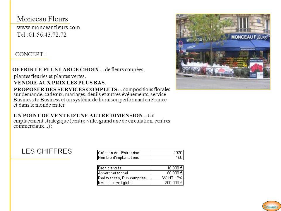 Monceau Fleurs www.monceaufleurs.com Tel :01.56.43.72.72 CONCEPT : OFFRIR LE PLUS LARGE CHOIX...