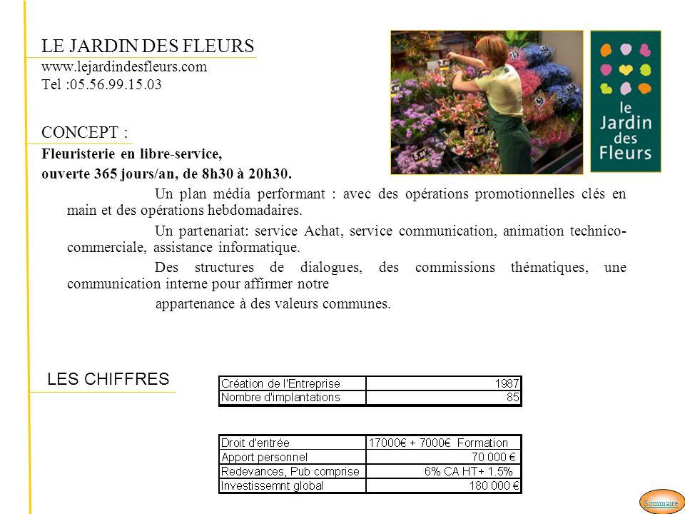 LE JARDIN DES FLEURS www.lejardindesfleurs.com Tel :05.56.99.15.03 CONCEPT : Fleuristerie en libre-service, ouverte 365 jours/an, de 8h30 à 20h30.