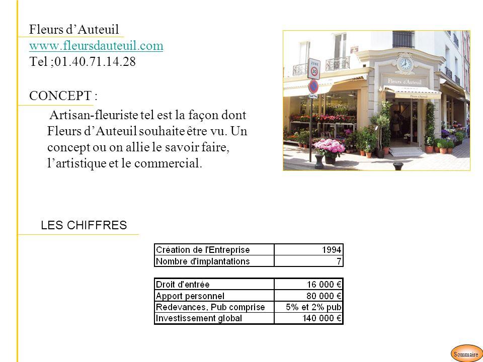 Fleurs dAuteuil www.fleursdauteuil.com Tel ;01.40.71.14.28 www.fleursdauteuil.com CONCEPT : Artisan-fleuriste tel est la façon dont Fleurs dAuteuil so