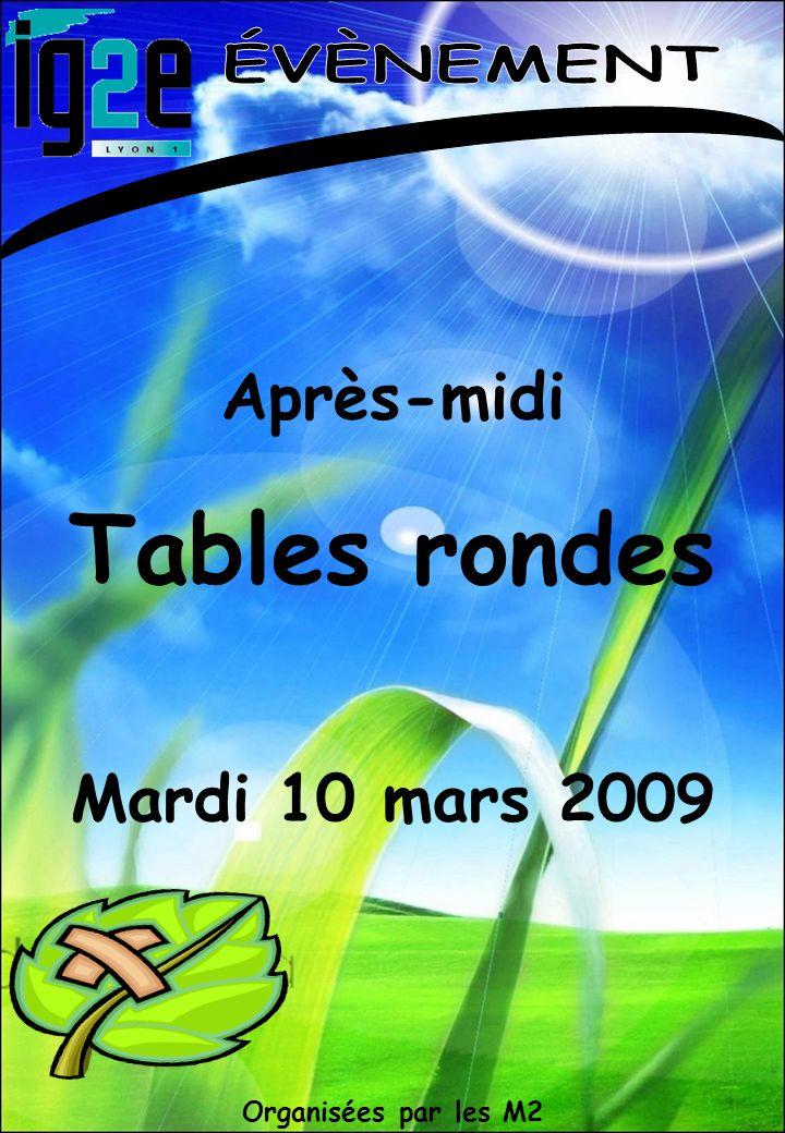 Organisées par les M2 Après-midi Tables rondes Mardi 10 mars 2009