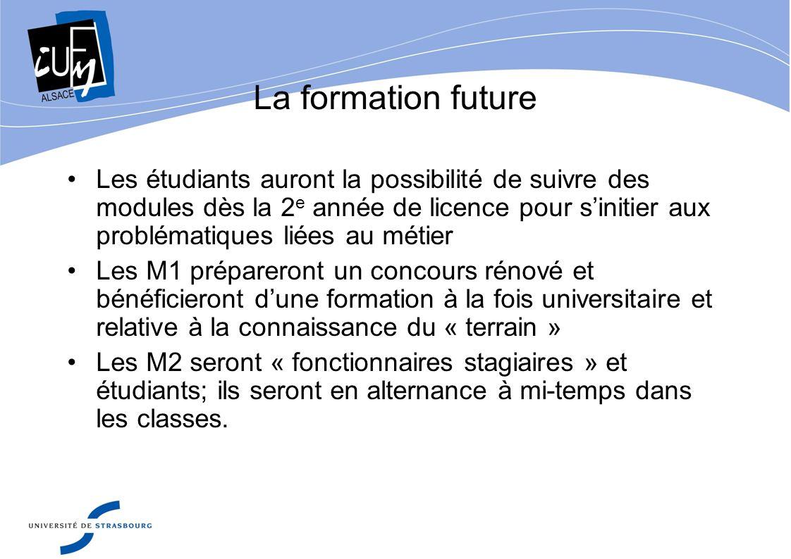 La formation future Les étudiants auront la possibilité de suivre des modules dès la 2 e année de licence pour sinitier aux problématiques liées au mé