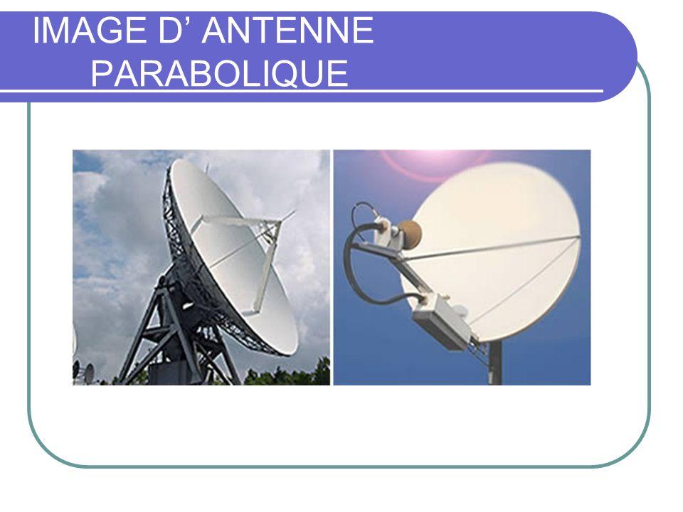 IMAGE D ANTENNE PARABOLIQUE