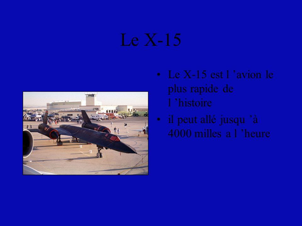 Les autres avions de chasses Le X-15 Le f-117