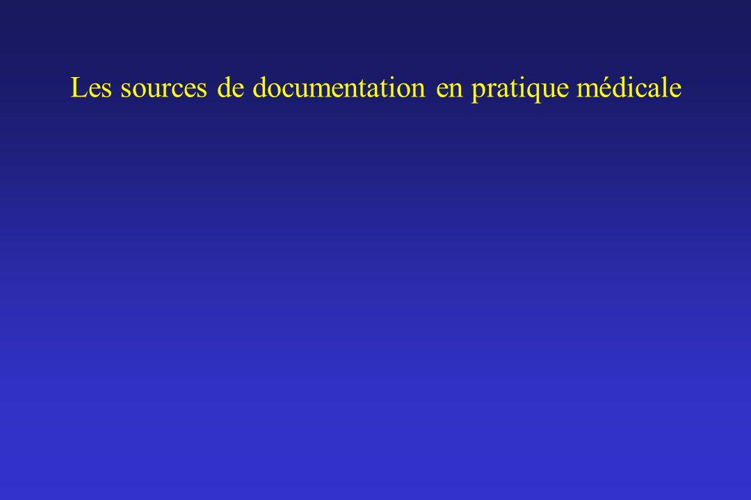 Les sources de documentation en pratique médicale