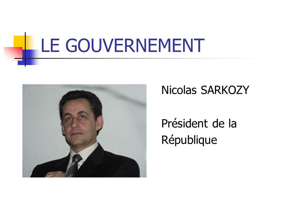 LE GOUVERNEMENT Nicolas SARKOZY Président de la République