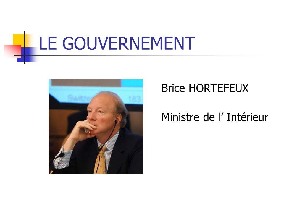 Brice HORTEFEUX Ministre de l Intérieur