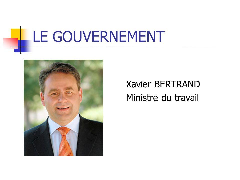 Xavier BERTRAND Ministre du travail