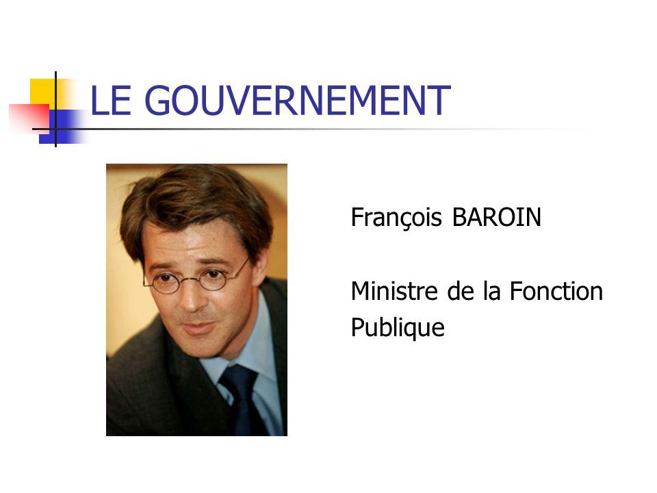 François BAROIN Ministre de la Fonction Publique