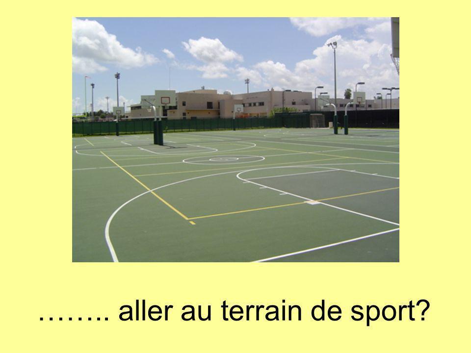 …….. aller au terrain de sport