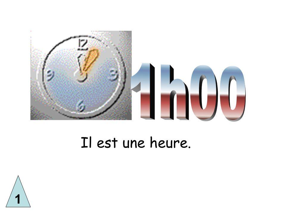 The 24 hour clock AB CD E F 1) Il est douze heures quatorze.