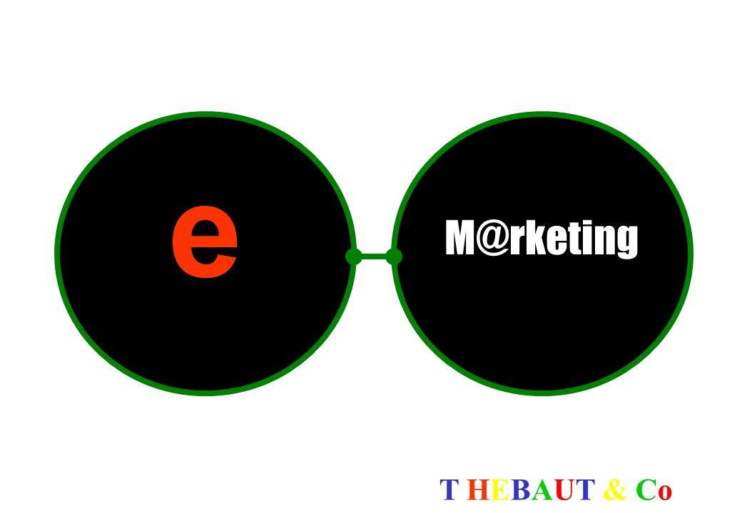 T HEBAUT & CoT HEBAUT & Co Le Petit Quizz (source : http://strategis.ic.gc.ca/frndoc/main.html) Pour le E-marketing, il est primordial de… Doter l équipe de vente d ordinateurs portables et de téléphones cellulaires Revoir et documenter les modes de production internes Acheter de la publicité dans des magazines Concevoir un site Web de qualité et se doter d un service à la clientèle hors pair Réponse Revoir et documenter les modes de production internes