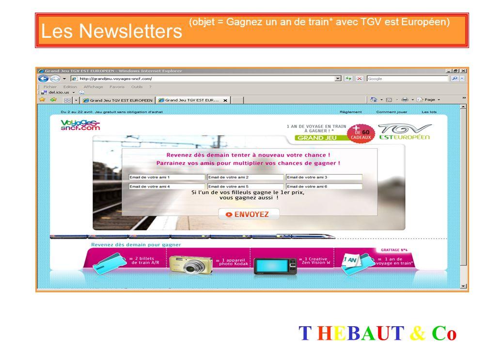 T HEBAUT & CoT HEBAUT & Co Les Newsletters (objet = Nouveauté IDTGV le pays basque à 19 euros*)