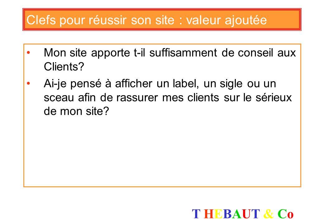 T HEBAUT & CoT HEBAUT & Co Clefs pour réussir son site : paiement La procédure de commande est-elle assez courte, les étapes sont-elles bien indiquées