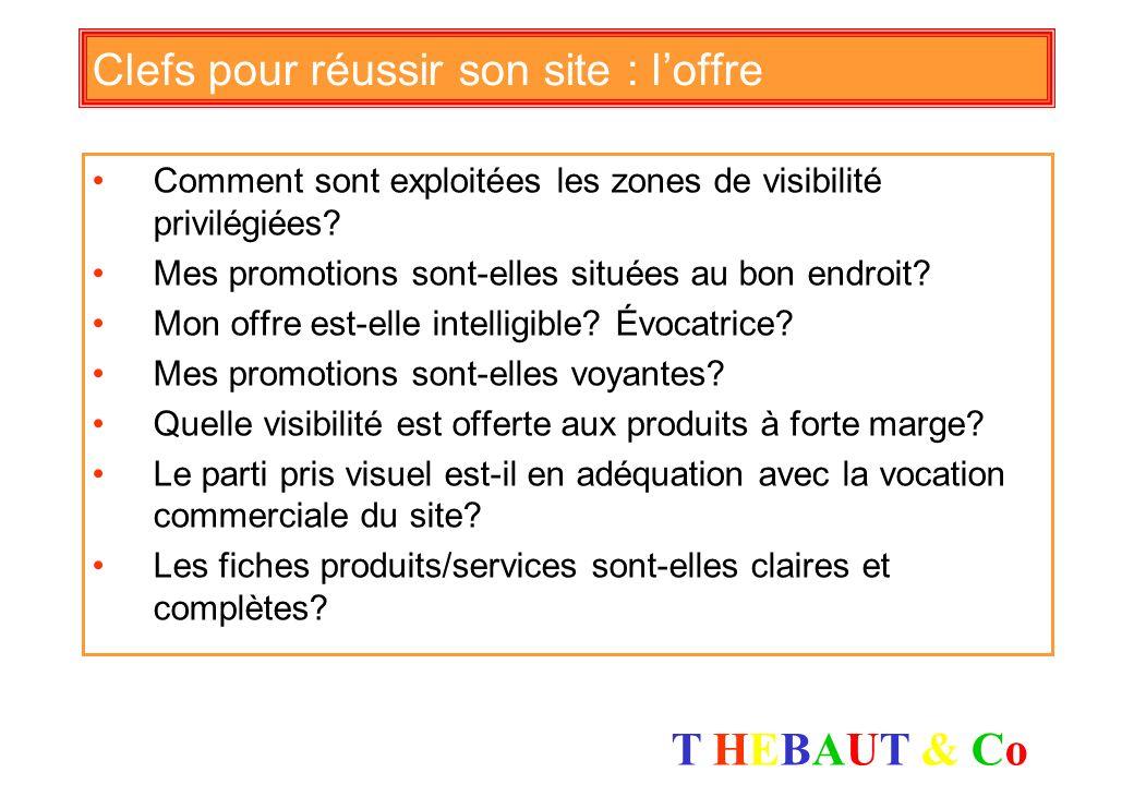 T HEBAUT & CoT HEBAUT & Co Clefs pour réussir son site : chalandise Combien y a t il de visiteurs sur mon site? Doù viennent tils Sur quels sites ai-j