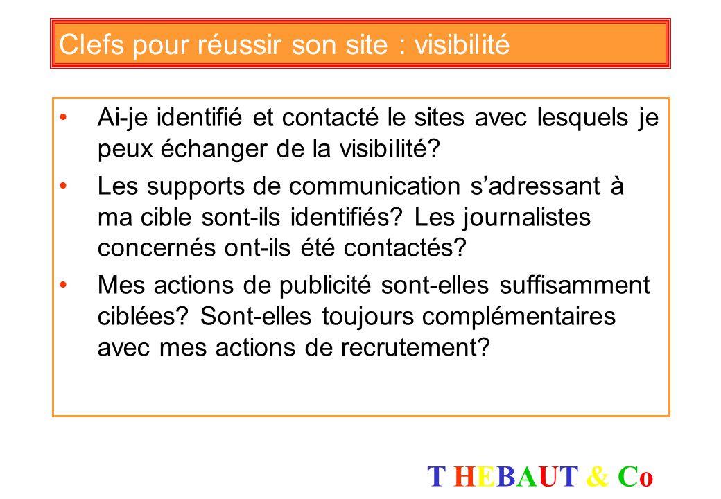 T HEBAUT & CoT HEBAUT & Co Clefs pour réussir son site : mots clés Les mots clés sur lesquels sappuie ma stratégie de référencement sont il bien chois