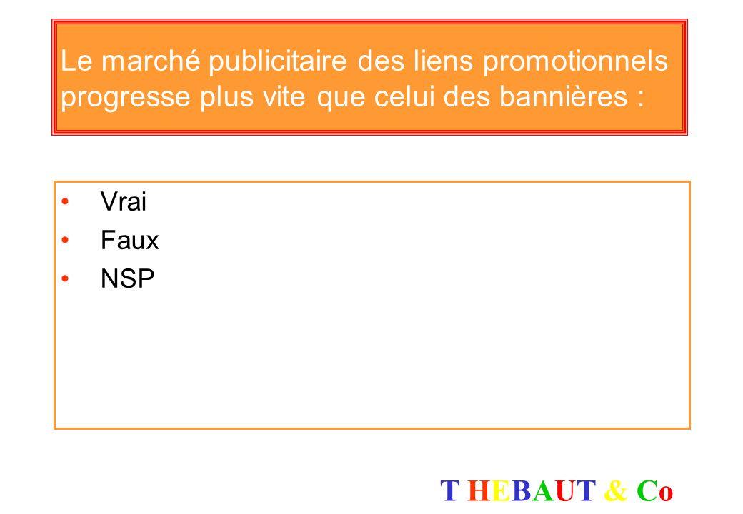 T HEBAUT & CoT HEBAUT & Co La publicité sur Internet sous forme de bannières est une communication : Intrusive Non intrusive NSP