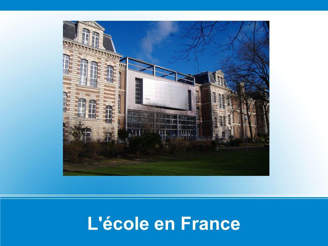 L école en France