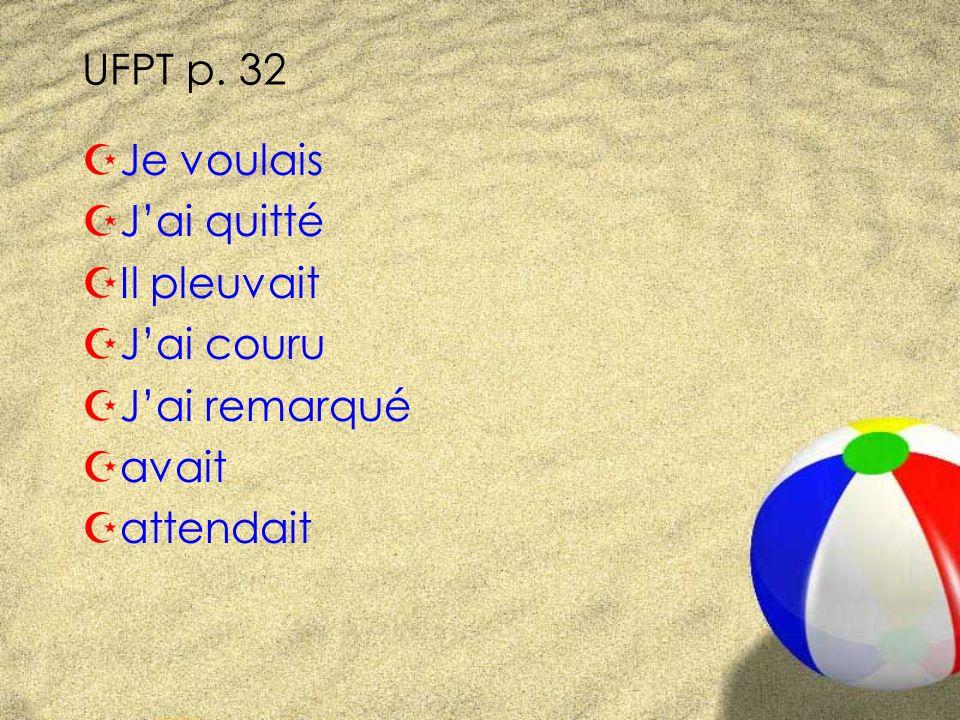 UFPT p. 32 Changez de rôle