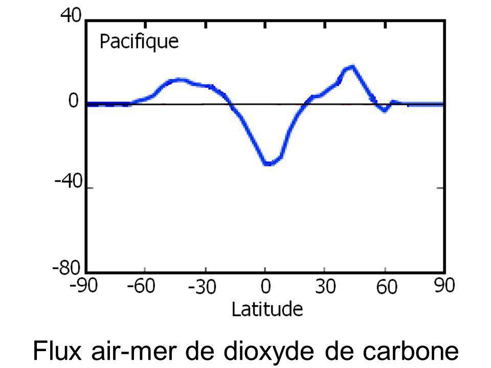 Flux air-mer de dioxyde de carbone