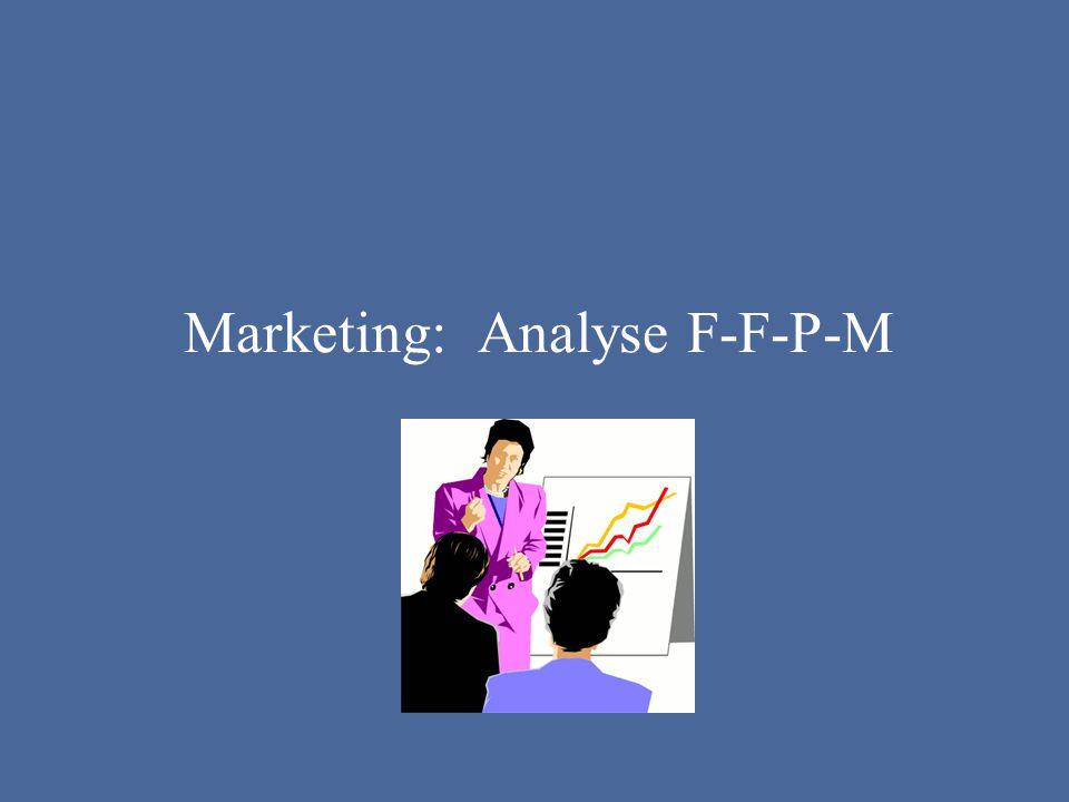 Marketing: Analyse F-F-P-M