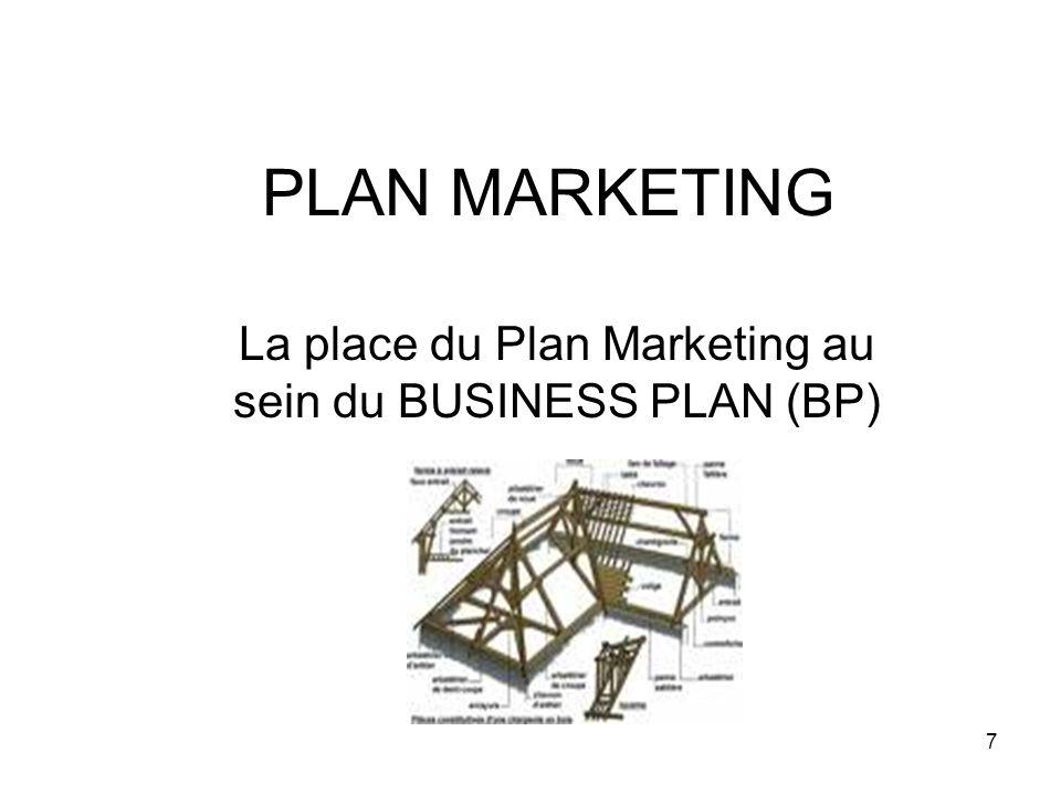 8 BUSINESS PLAN (BP) On peut considérer le Business Plan comme étant la charpente autour laquelle s y greffent un certains nombre déléments dont: Létude de marché Létude Technique Le plan marketing Etc.…