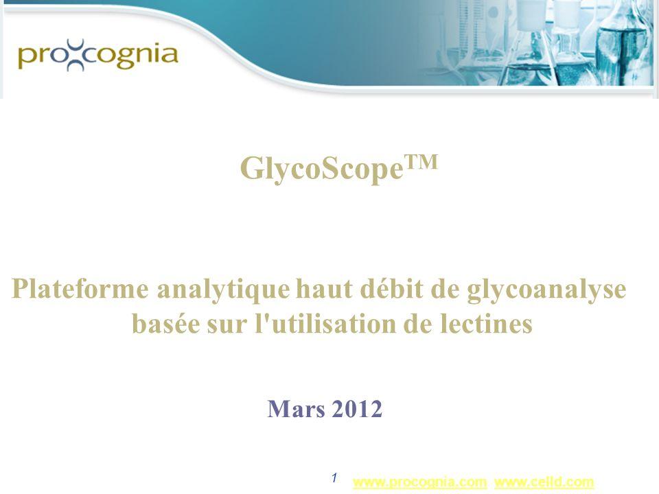 www.procognia.comwww.procognia.com www.celld.comwww.celld.com 1 GlycoScope TM Plateforme analytique haut débit de glycoanalyse basée sur l'utilisation