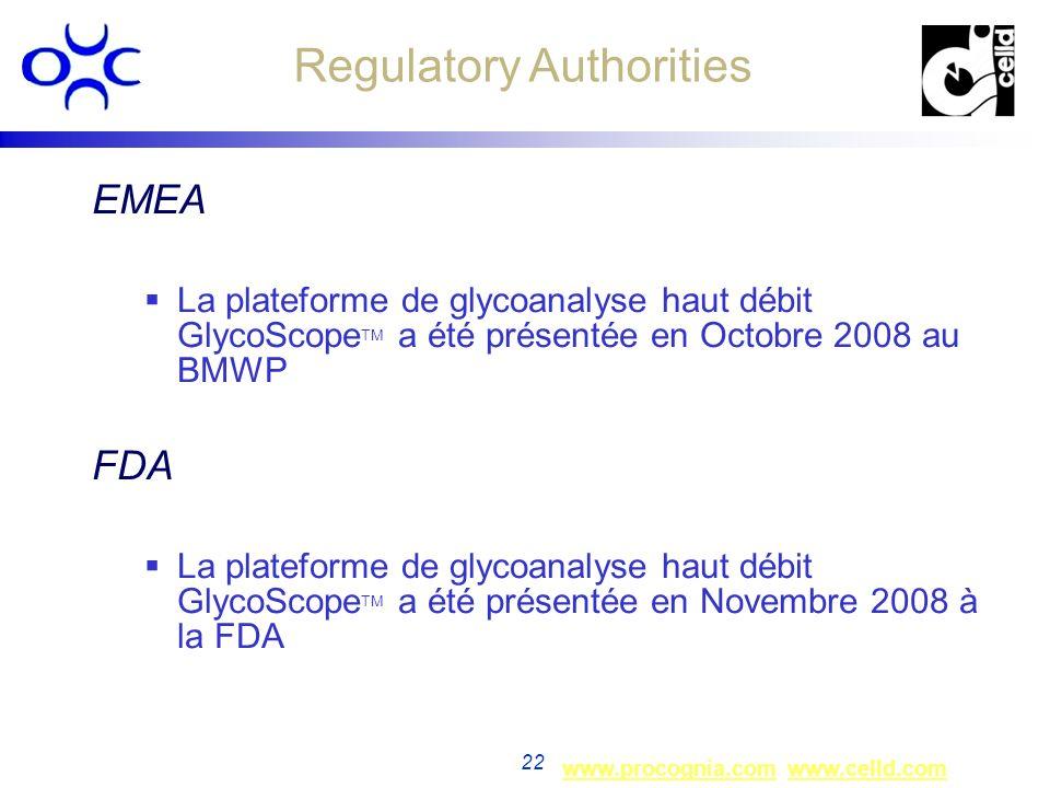 www.procognia.comwww.procognia.com www.celld.comwww.celld.com 22 EMEA La plateforme de glycoanalyse haut débit GlycoScope TM a été présentée en Octobr