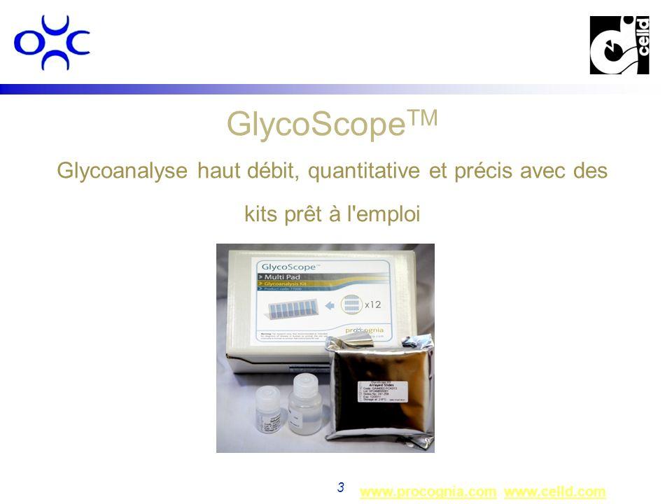 www.procognia.comwww.procognia.com www.celld.comwww.celld.com 3 GlycoScope TM Glycoanalyse haut débit, quantitative et précis avec des kits prêt à l'e