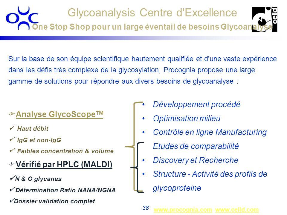 www.procognia.comwww.procognia.com www.celld.comwww.celld.com 38 Sur la base de son équipe scientifique hautement qualifiée et d'une vaste expérience