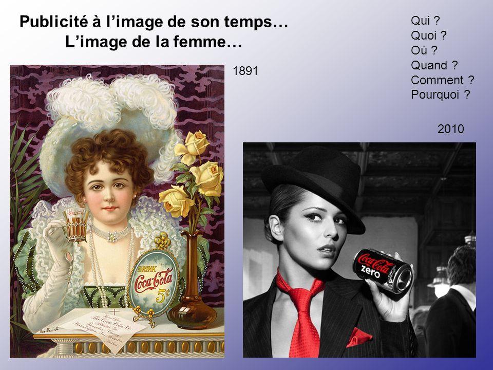 Publicité à limage de son temps… Limage de la femme… Qui ? Quoi ? Où ? Quand ? Comment ? Pourquoi ? 1891 2010