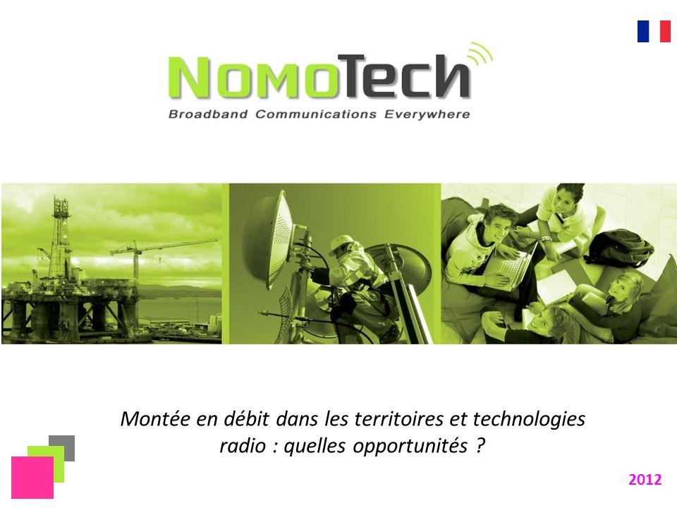 Montée en débit dans les territoires et technologies radio : quelles opportunités ? 2012