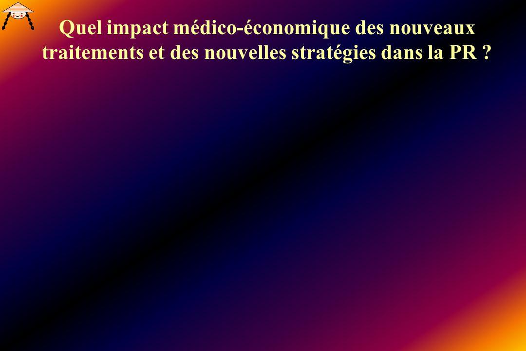Quel impact médico-économique des nouveaux traitements et des nouvelles stratégies dans la PR ?