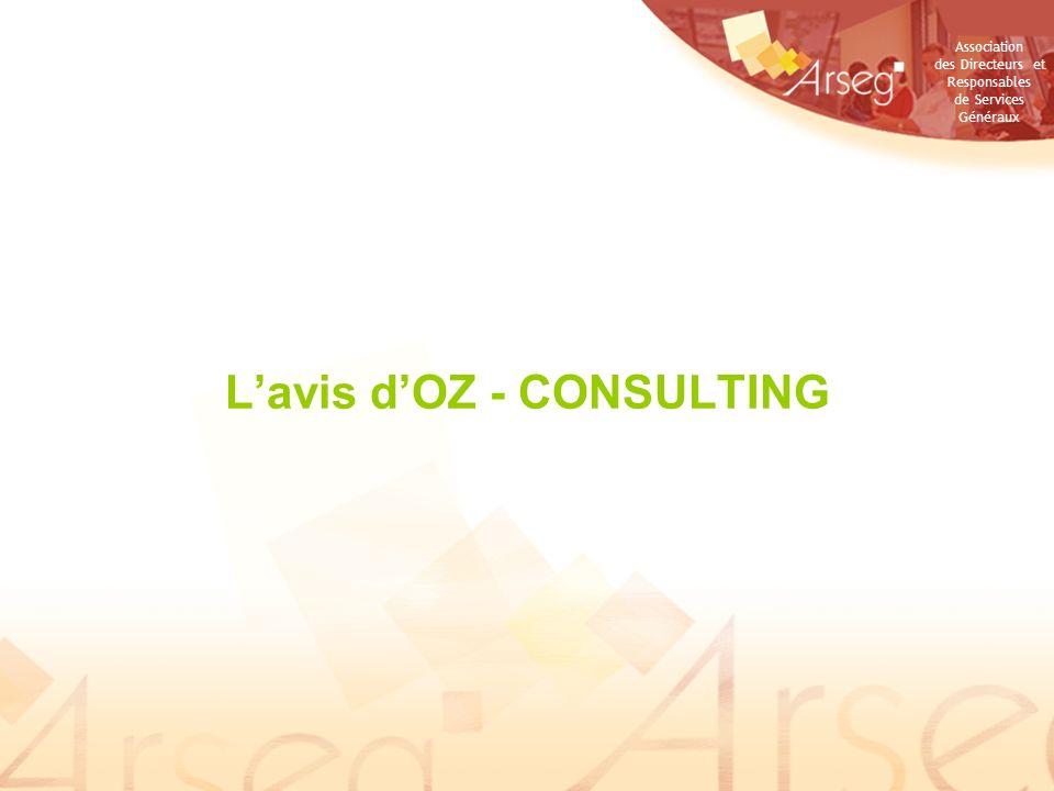Association des Directeurs et Responsables de Services Généraux Lavis dOZ - CONSULTING