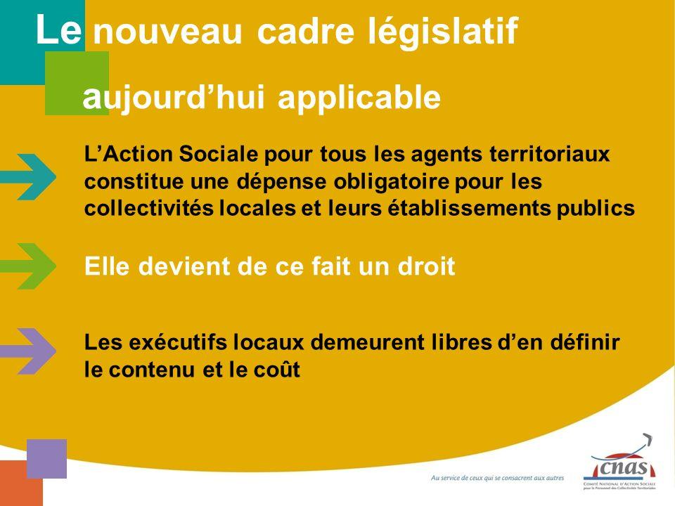 Elle devient de ce fait un droit Le nouveau cadre législatif a ujourdhui applicable LAction Sociale pour tous les agents territoriaux constitue une dé