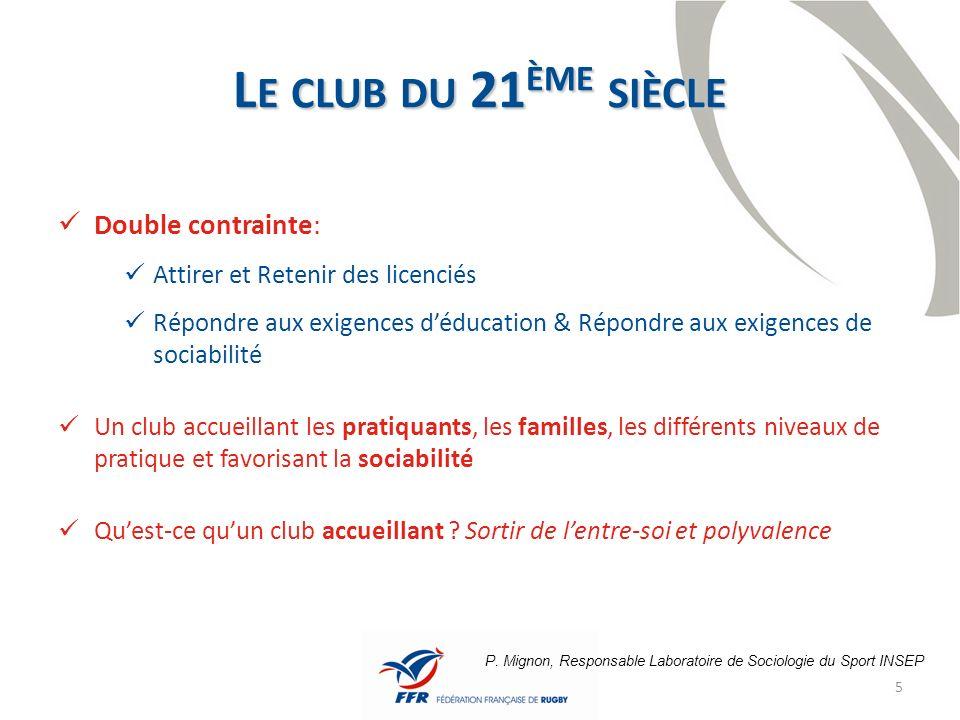 6 « Développer un club citoyen allant au-delà de loffre sportive » Pierre CAMOU (Président de la FFR)