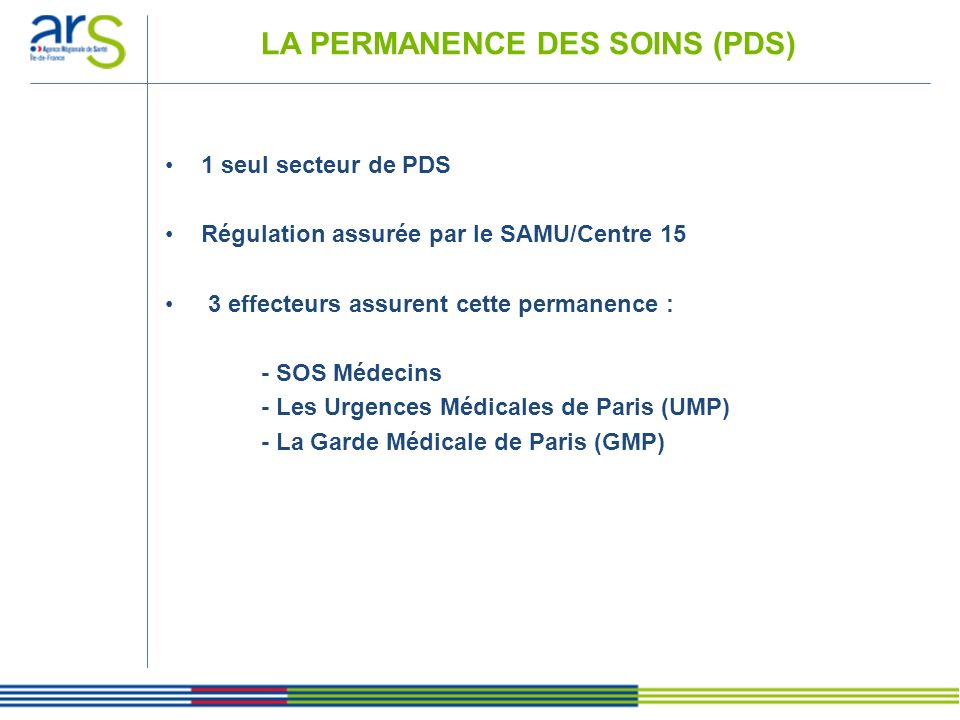 PDS : MAISONS MEDICALES DE GARDE On recense 5 M.M.G.