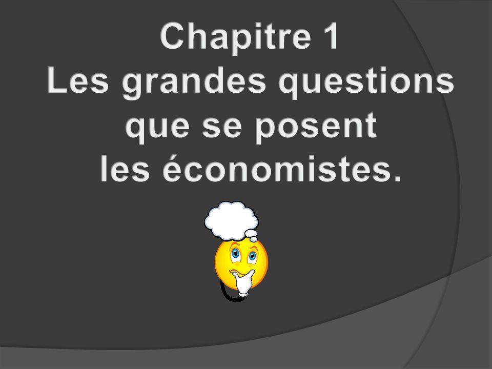 Objectifs du chapitre: Ce premier chapitre nous permettra de comprendre pourquoi et comment les économistes raisonnent en simplifiant, en modélisant la réalité.