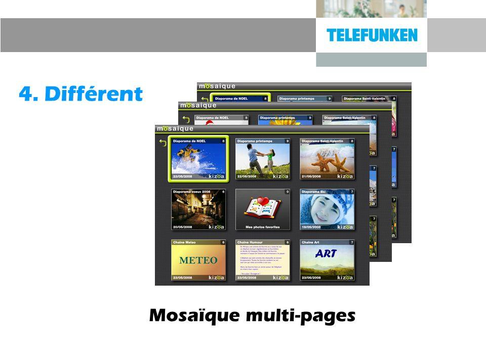 4. Différent Mosaïque multi-pages