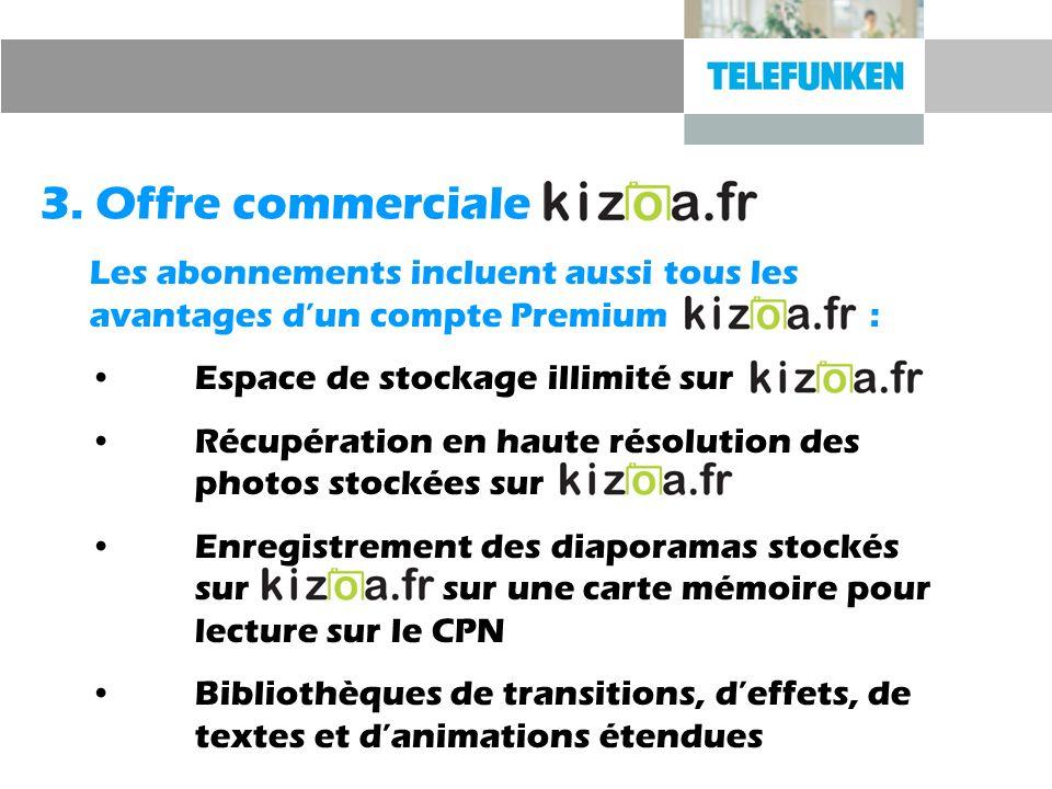 Les abonnements incluent aussi tous les avantages dun compte Premium : Espace de stockage illimité sur Récupération en haute résolution des photos sto